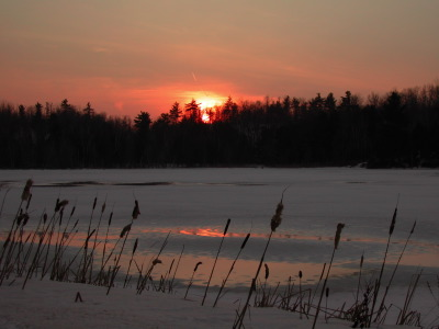 All, Sunset, Rushes, Snow, Canada