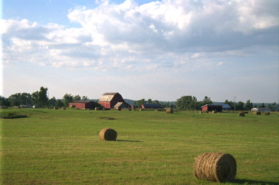 All, Kingston,Canada,Ontario,Farm, Wolfe Island, Clouds, Hay