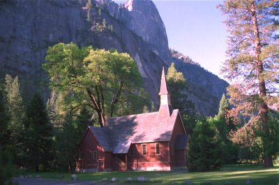 All, USA,California,Church, Trees, Yosemite National Park