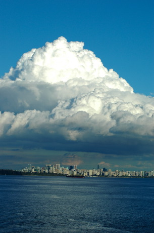 All, Stanley park and Downtown Vancouver (from outer harbour), Vancouver, British Columbia, Canada